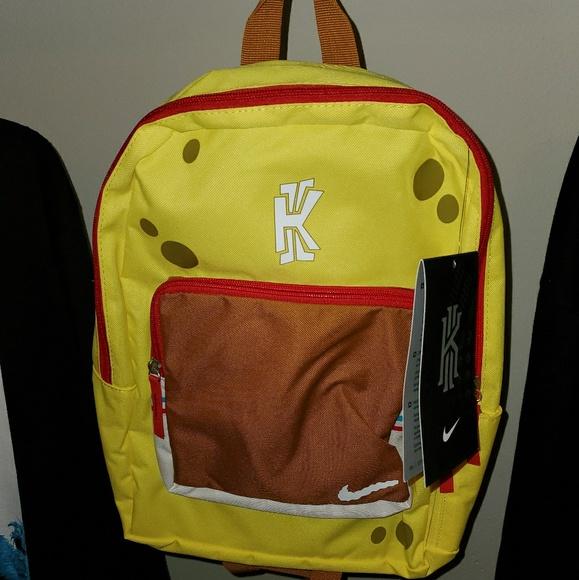 Radioactivo Resbaladizo matrimonio  Nike Accessories | Kyrie Spongebob Backpack | Poshmark